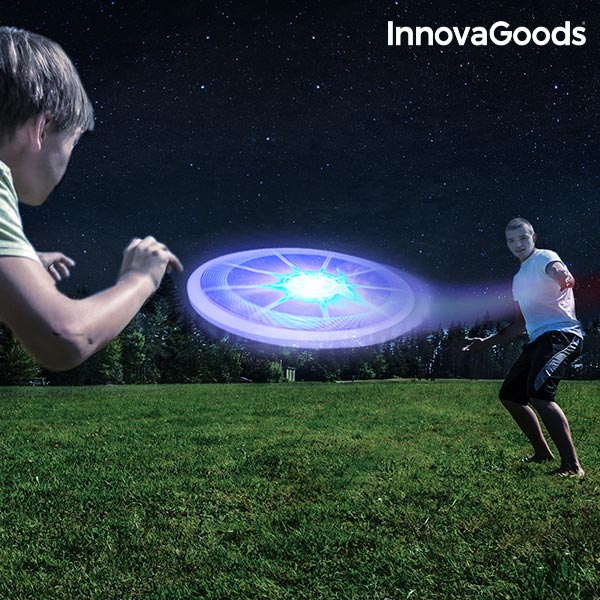 Frisbee cu LED multicolor InnovaGoods