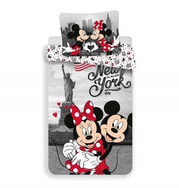 Lenjerie de pat Mickey și Minnie la New York Love